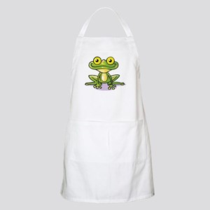 Cute Green Frog Apron